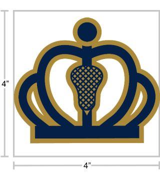 Crown Town Lacrosse Sticker Lacrosse Stickers Crown