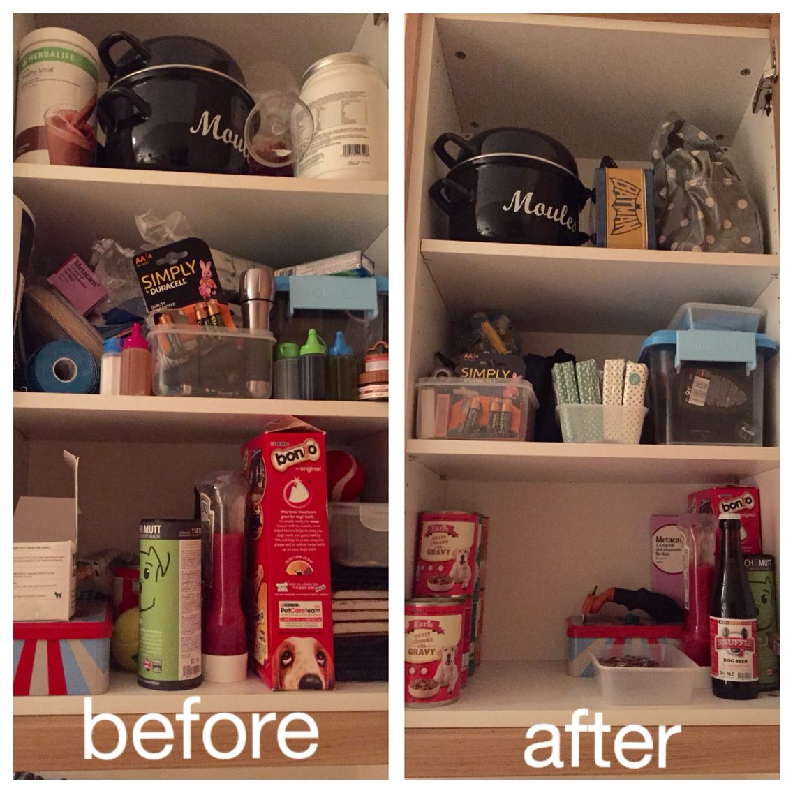 Organized Kitchen Before And After: Before And After Kitchen Kimono