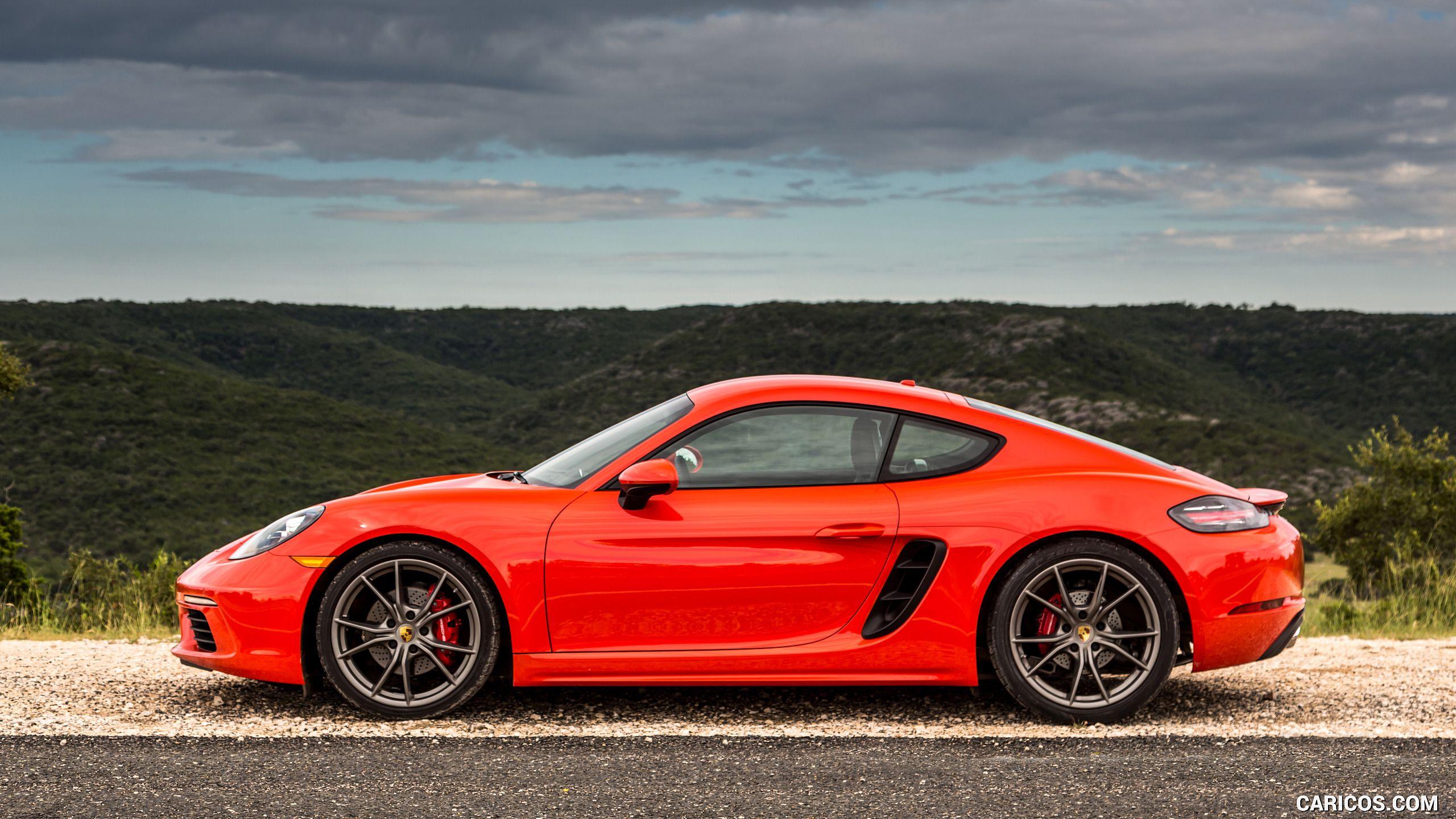 2017 Porsche 718 Cayman S Color Lava Orange Us Spec Side Hd Porsche 718 Cayman Porsche Cayman S