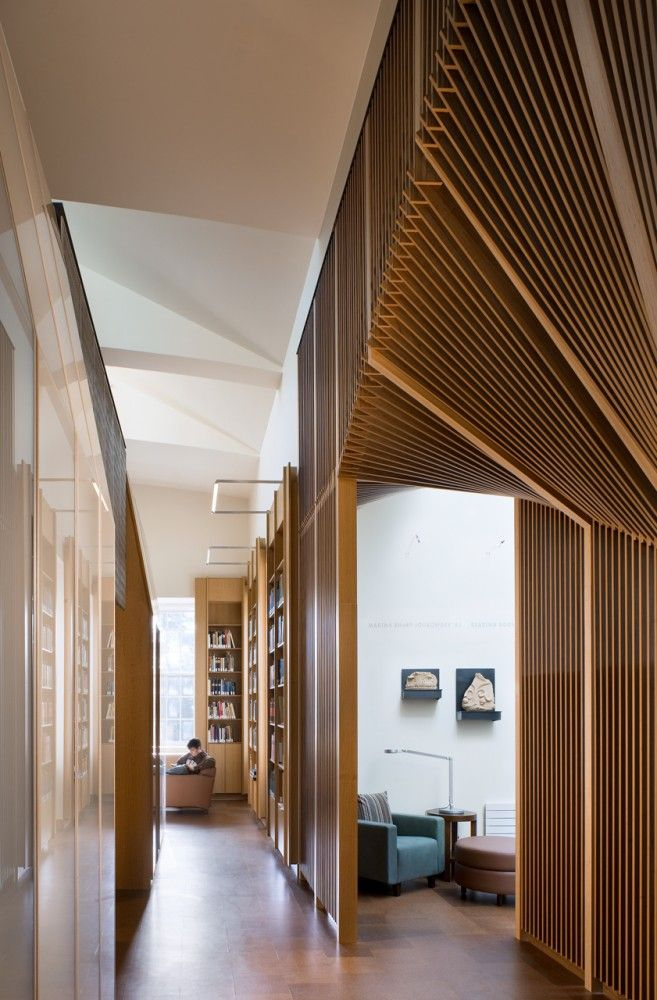 Joukowsky institute anmahian winton architects also best wood walls images ideas wall rh pinterest