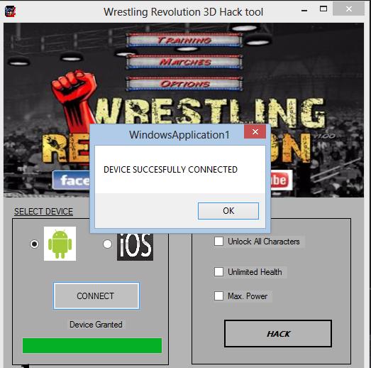 Wrestling Revolution 3D Hack Tool