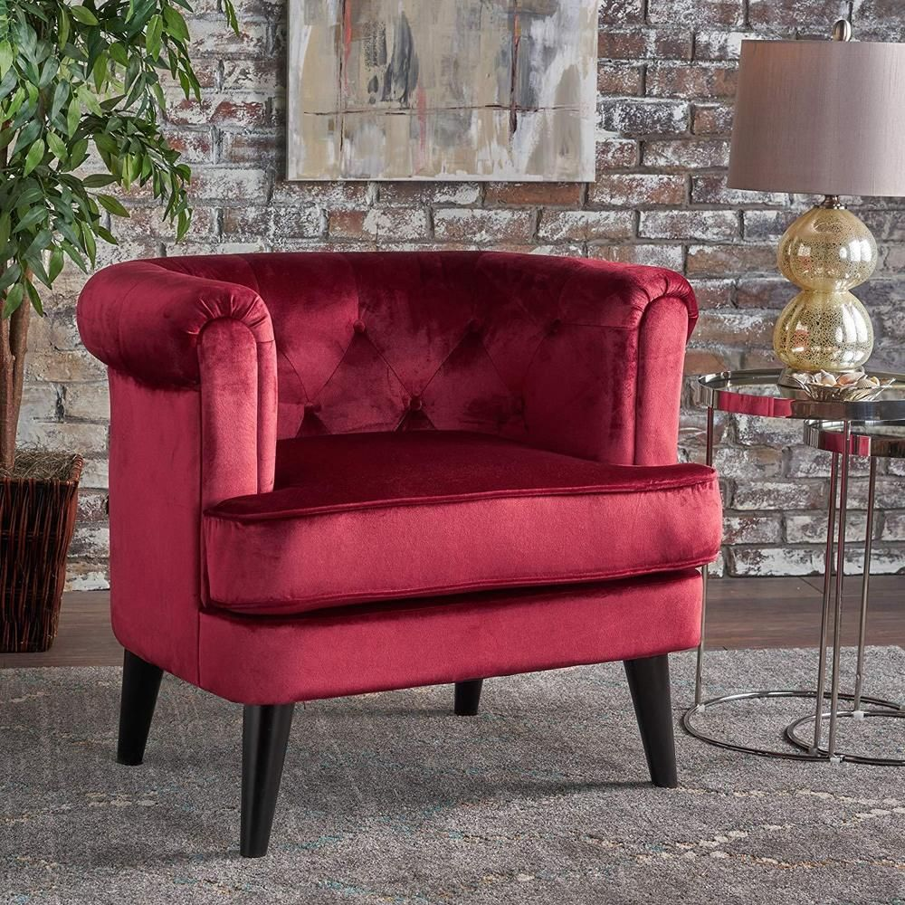 Victorian Accent Chair Wood Velvet Vanity Stool Living Room Furniture Decor Red Victorianaccentchair Victorian Club Chairs Chair Tufted Club Chairs #red #accent #chairs #living #room