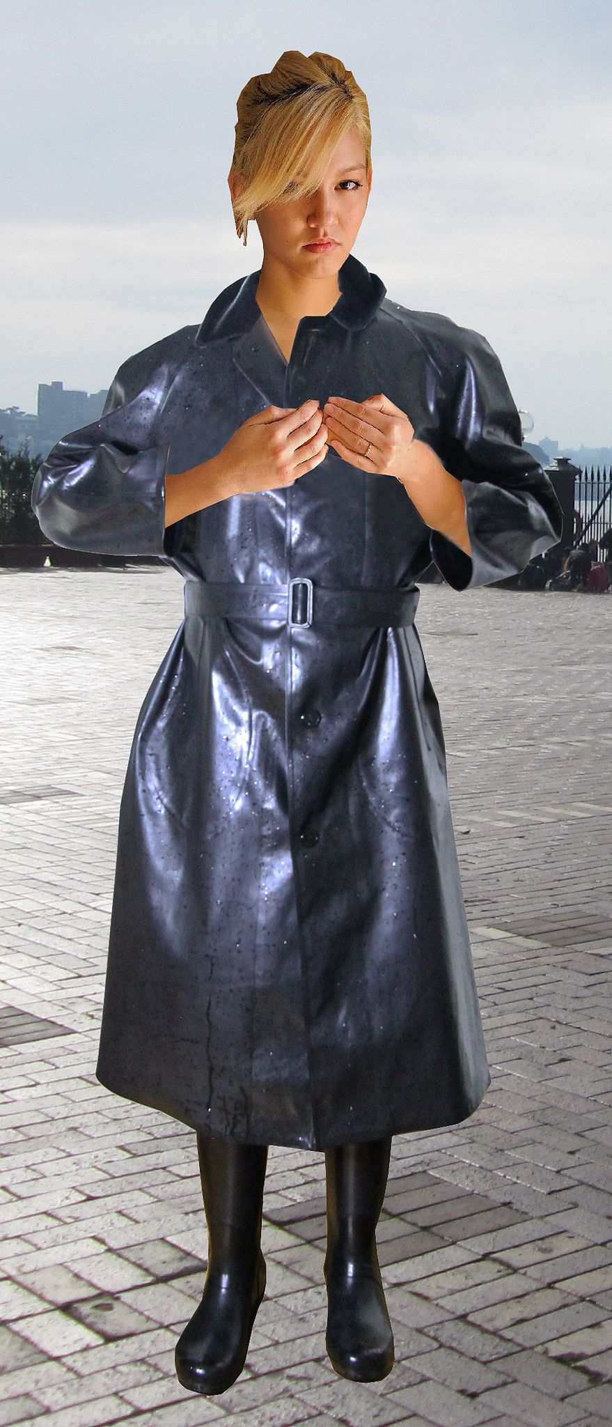 https://flic.kr/p/BVCetg   rainyday   Black Ascot SBR raincoat from Weather Vain & Hunter Rubber Gum Boots