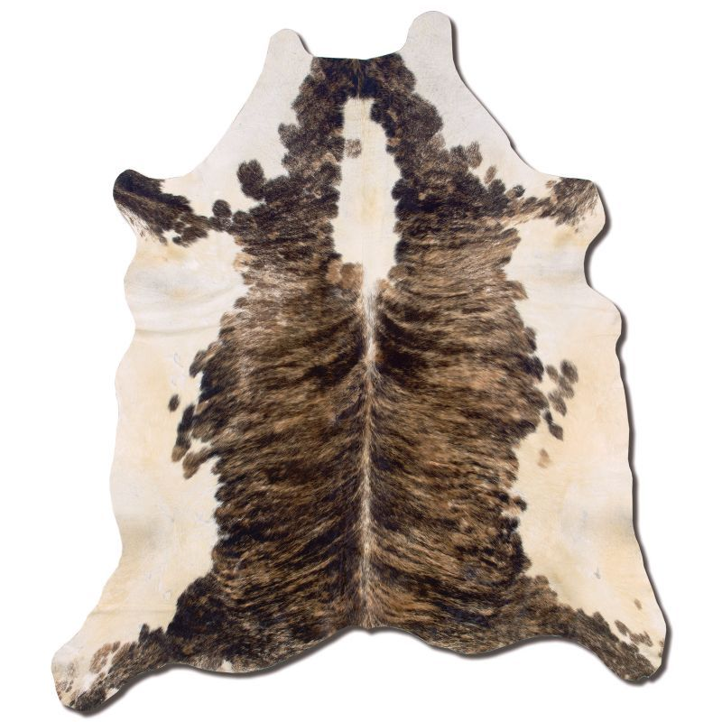 { Linon Medium Brindle Full-Skin Cowhide Rug }