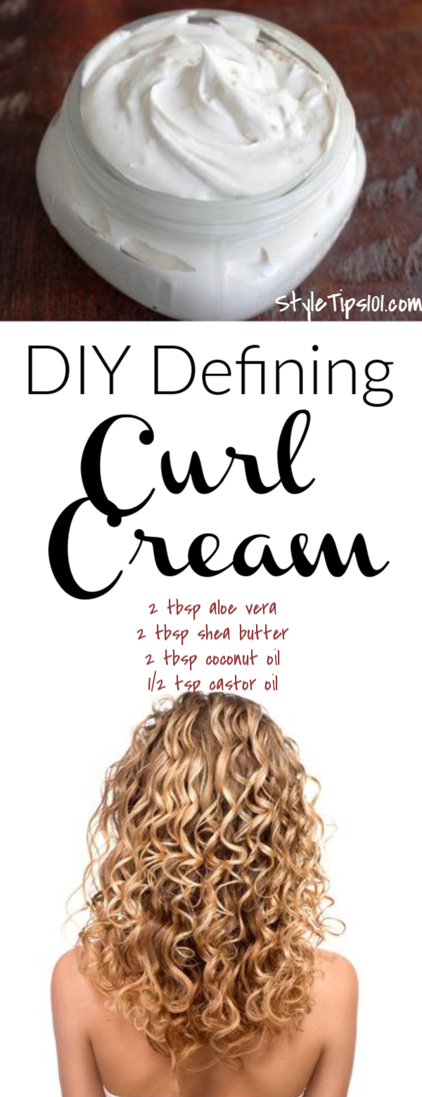 Homemade Curl Cream Recipe #homemadesweets