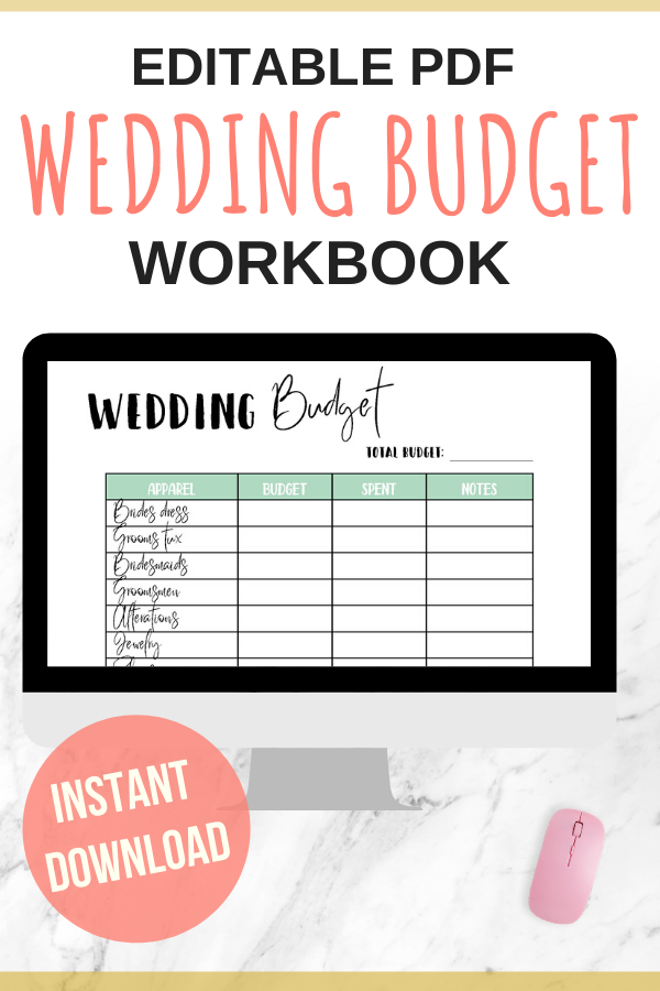Wedding Planner Expense Budget Trackerwedding Budget Etsy In 2020 Budgeting Budget Printables Personal Budget