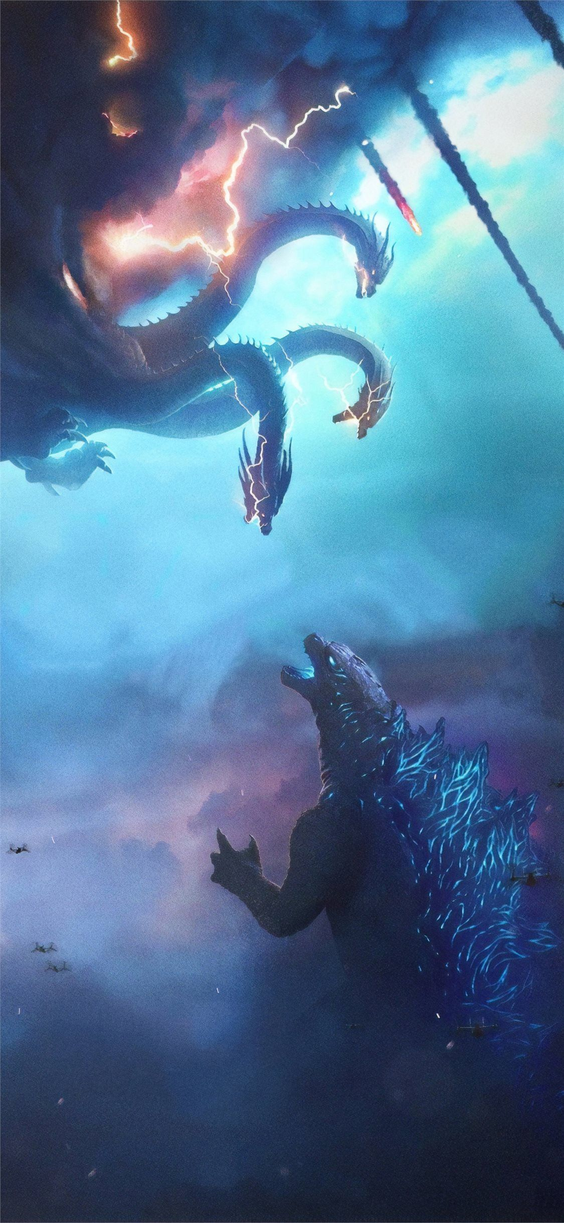 Godzilla King Of The Monsters Movie Poster Godzilla Wallpaper Godzilla Vs King Ghidorah Godzilla Tattoo