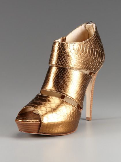 Bronze Python Sandal by Alexandre Birman on Gilt