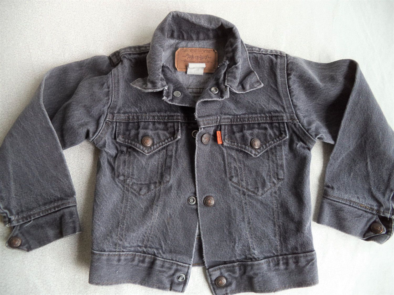 Toddler Levi Jean Jacket Vintage Black Jeans Jacket Size 5 Etsy Black Jean Jacket Levi Jean Jacket Jackets [ 1125 x 1500 Pixel ]