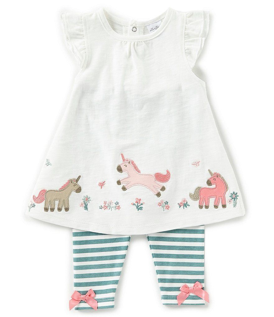 Starting Out Baby Girls 3 24 Months Unicorn Short Sleeve Top