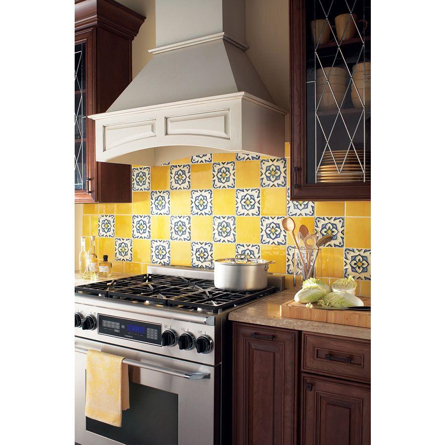 Shop Solistone 10-Pack Hand-Painted Ceramic Jirasol Glazed Ceramic ...
