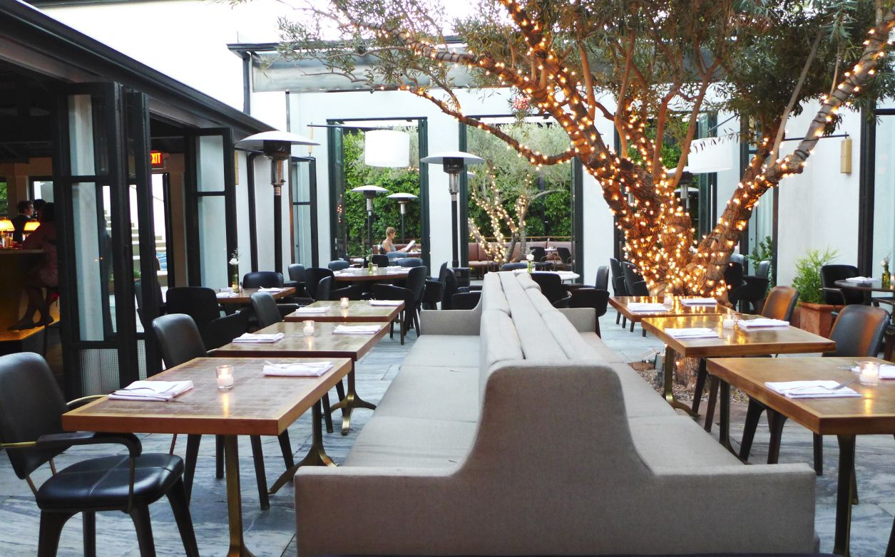 Super Cute Outdoor Patio At Ysabel In West Hollywood