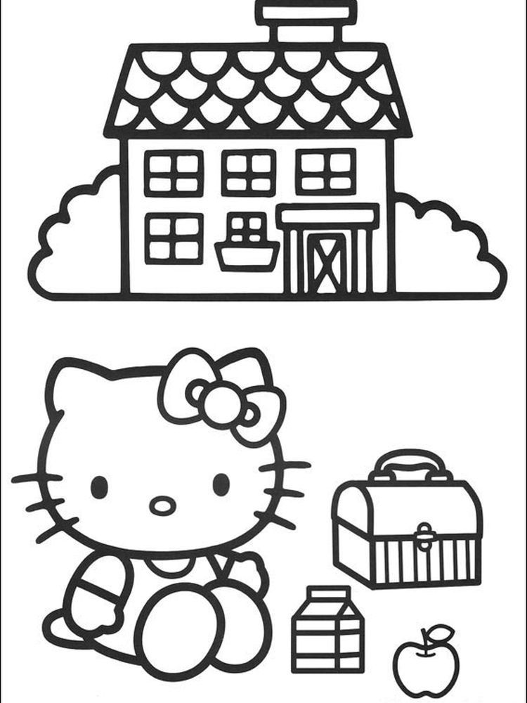 Hello Kitty Birthday Coloring Pages Free To Print When We First Heard Hello Kitty The First O Hello Kitty Coloring Kitty Coloring Hello Kitty Colouring Pages