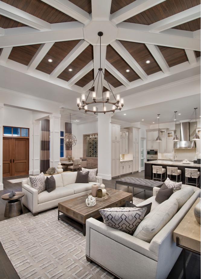 Neutral Living Room Houzz Transitional Living Room Design Transitional Living Rooms Living Room Designs #transitional #living #room #designs