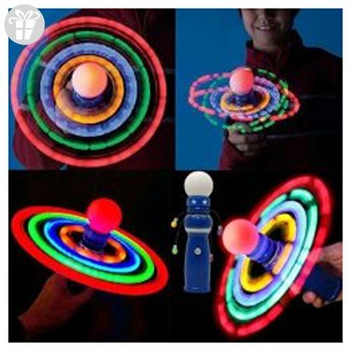 Planetary Spinning Galaxy Atom LED Light Ball Toy Spinner Wand Rave Autism Awareness - Fidget spinner (*Amazon Partner-Link)