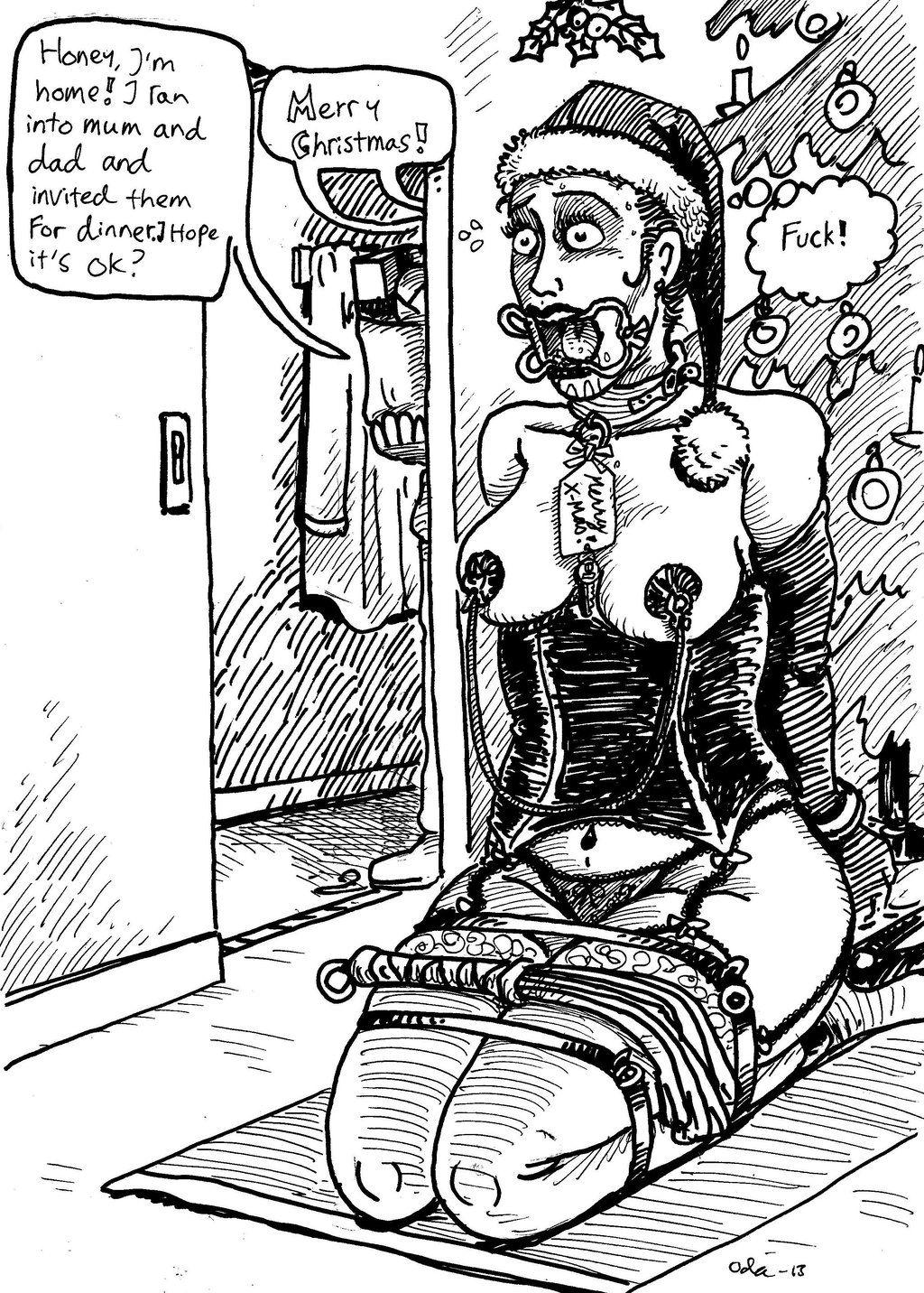Christmas bondage cartoons
