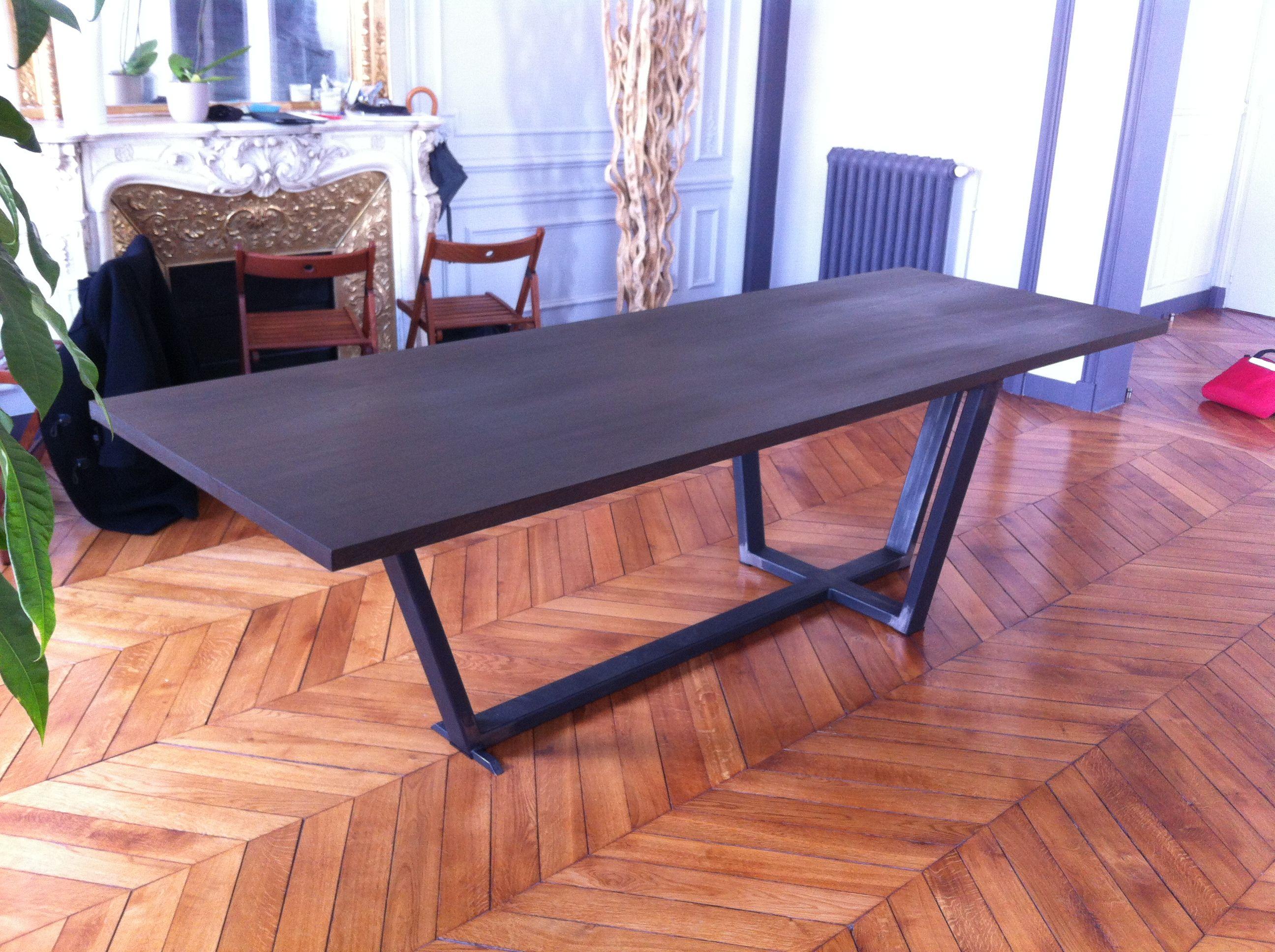 Table manger sur mesure de style industriel table - Table a manger sur mesure ...