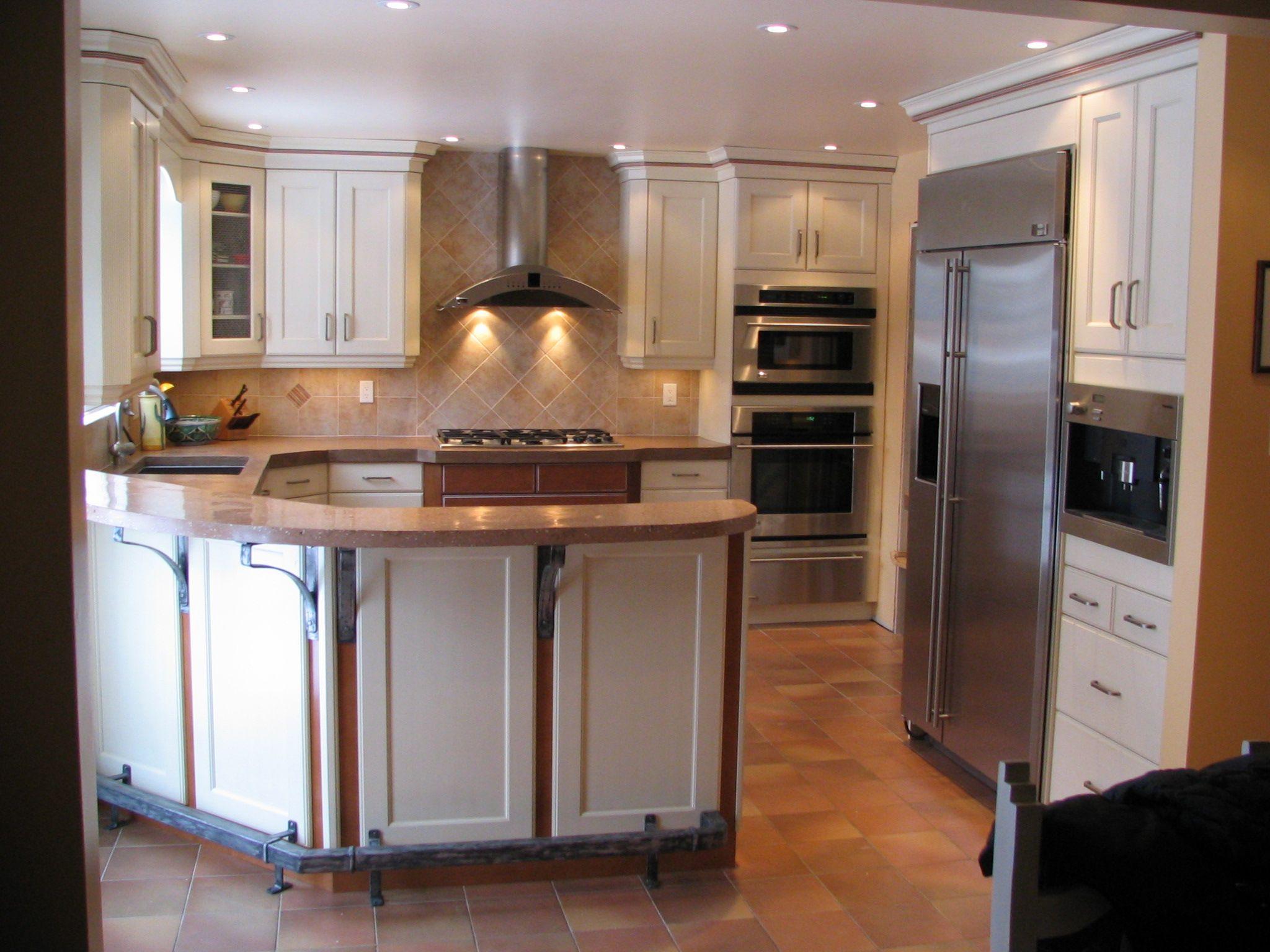 Southwest Motif Kitchen Glazed Antique White Lacquer