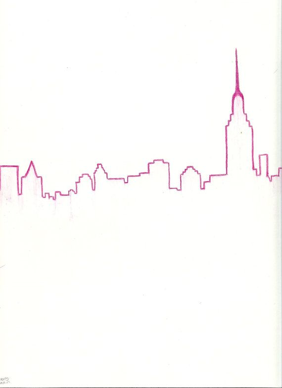 This Download Is An Easy Way To Have The New York City Skyline Drawing On Your Computers And Mobile Devices Skyline Drawing City Skyline Art City Drawing