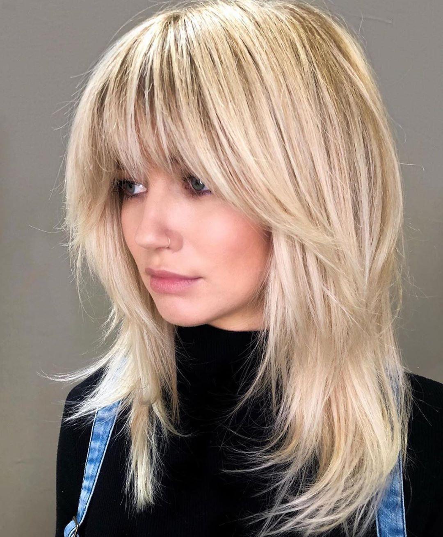 "modern salon on instagram: ""blonde shag ✂️ @rachelwstylist"