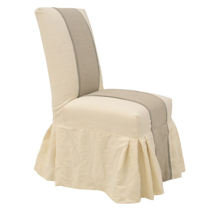 Quatrine Furniture   Parsons Slipcovered Dining Chair