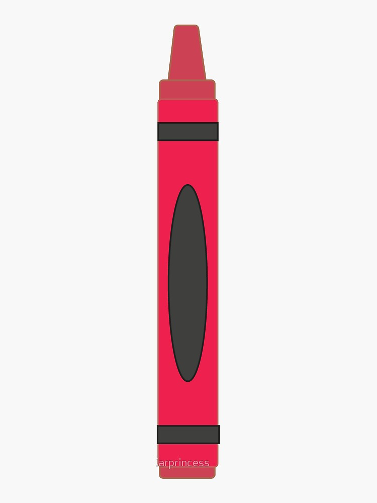 Red Crayon Sticker By Carprincess Redbubble Red Crayon Crayon Red