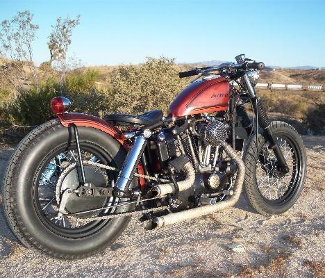 C F A C A E D on 1975 Harley Davidson Ironhead Sportster Bobber