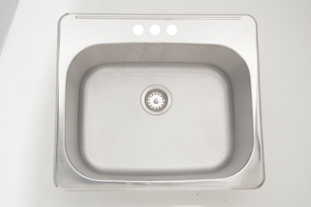 25 Inch W X 22 Inch D Drop In Laundry Sink For A 3h4 Inch Faucet