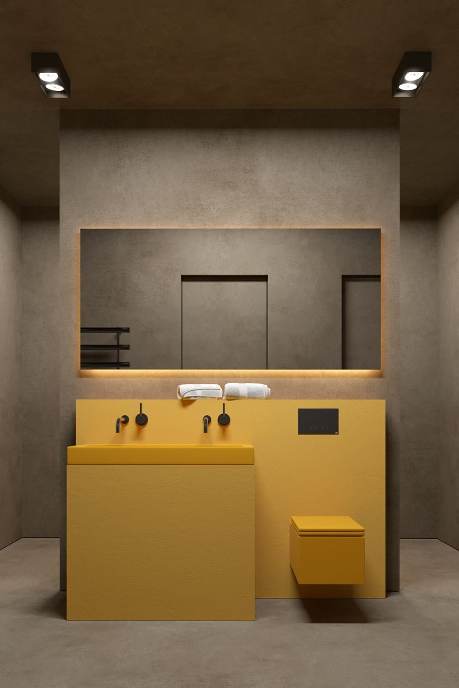 Amm Blog Using Yellow In Interiors Bathroominterior Bathroom  # Muebles Infantiles Lupi Love