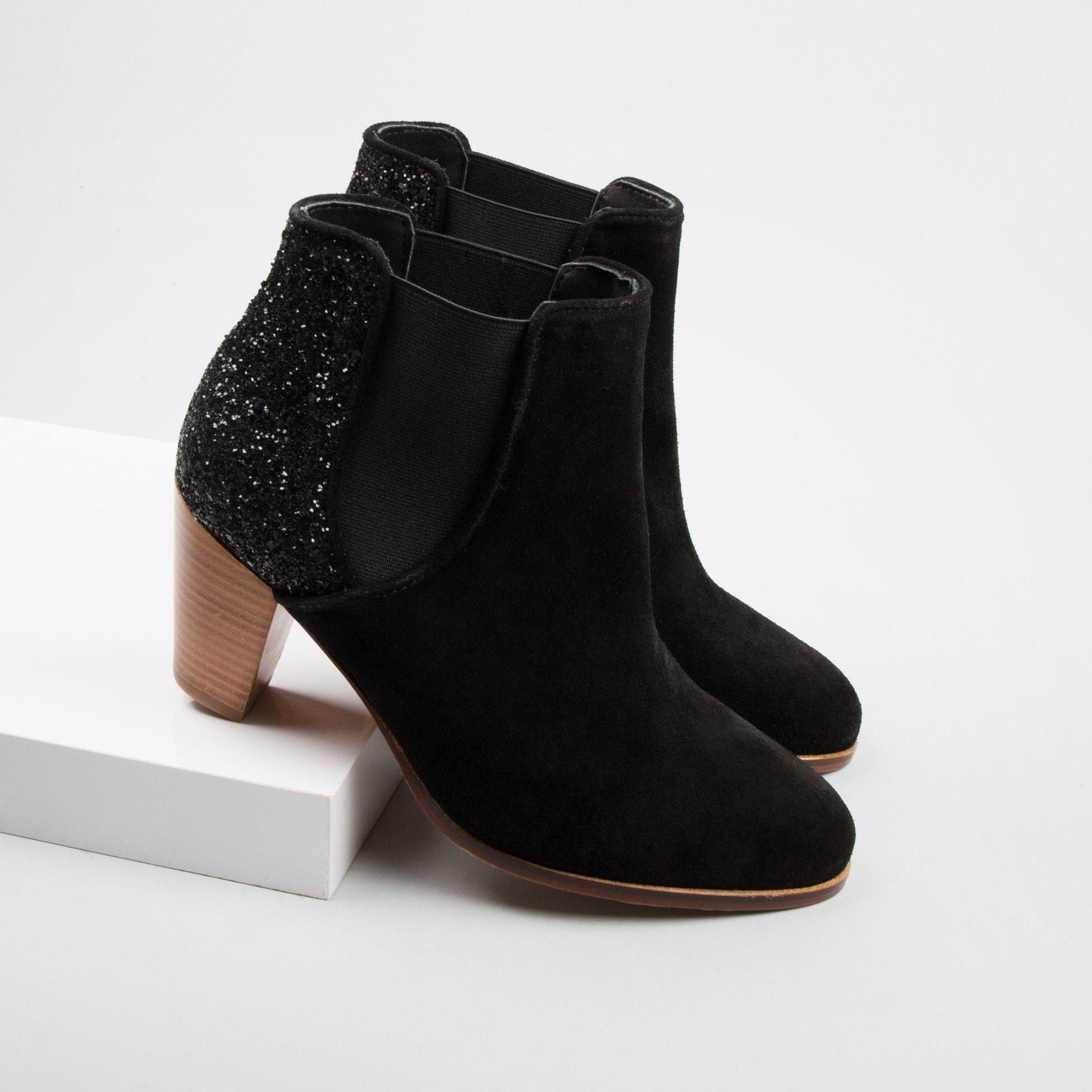Chelsea Boots Velours Noir U706uJYp