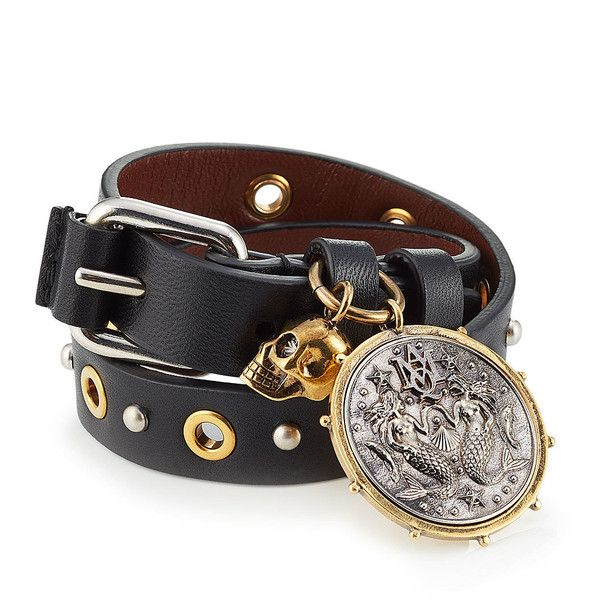 Embellished leather bracelet Alexander McQueen