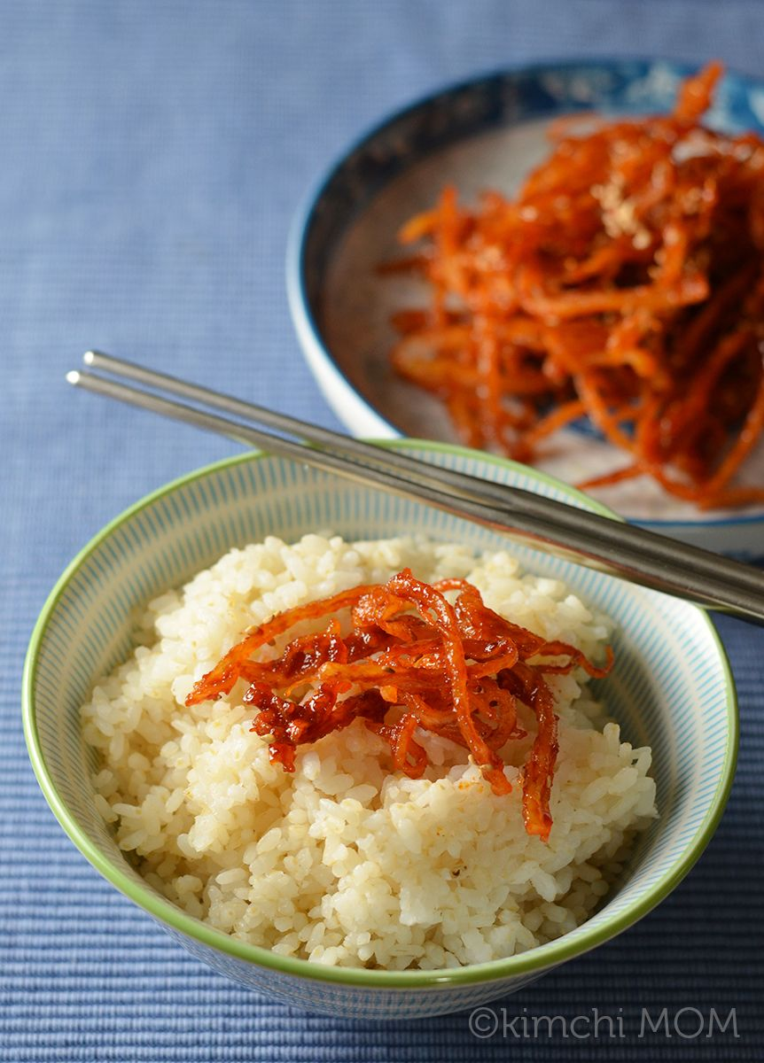 Korean Seasoned Dried Squid (Ojingeochae muchim) #SundaySupper ...