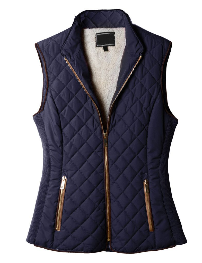 BYWX Women Waistcoat Quilted Padded Sleeveless Winter Warm Down Vest Jacket