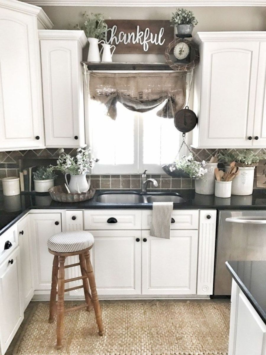 24 Best Farmhouse Kitchen Sink Decor IdeasLike the small