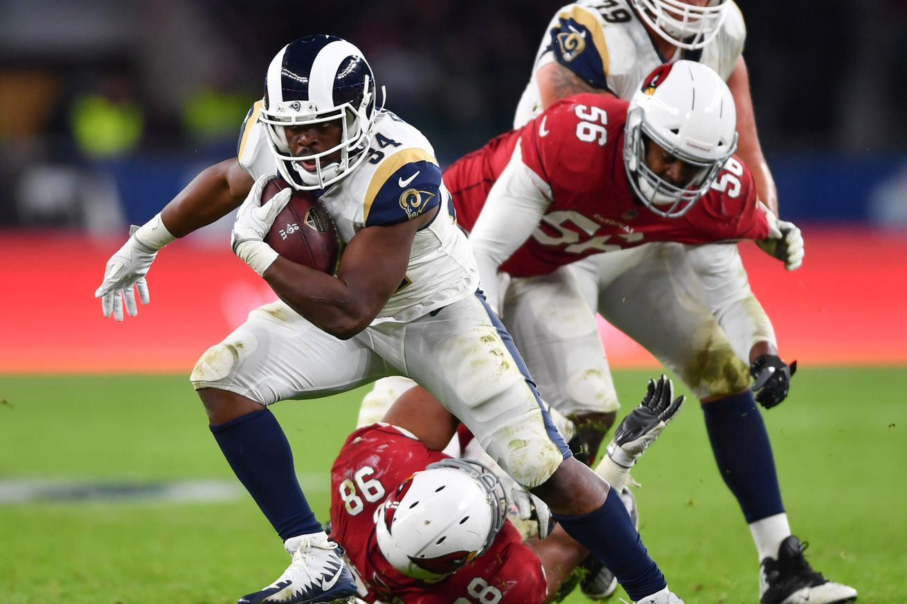 Rams Cardinals Final Injury Report Centers Concerns On Rb With Images Injury Report Los Angeles Rams Injury