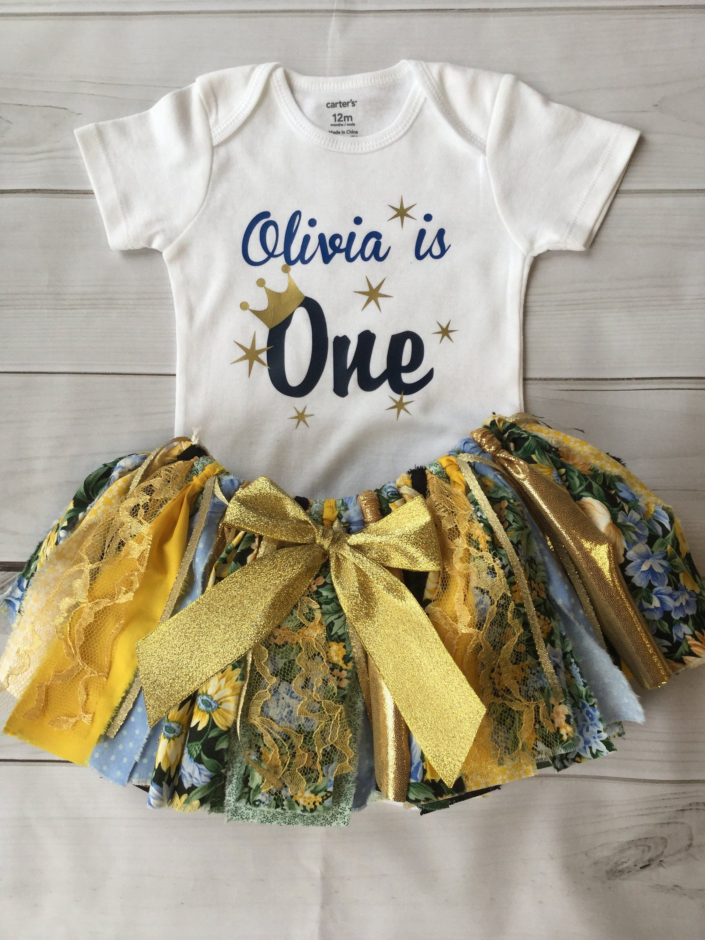 28a11d332f Princess First birthday outfit- customize your child's name Floral Fabric,  Fabric Tutu, Baby