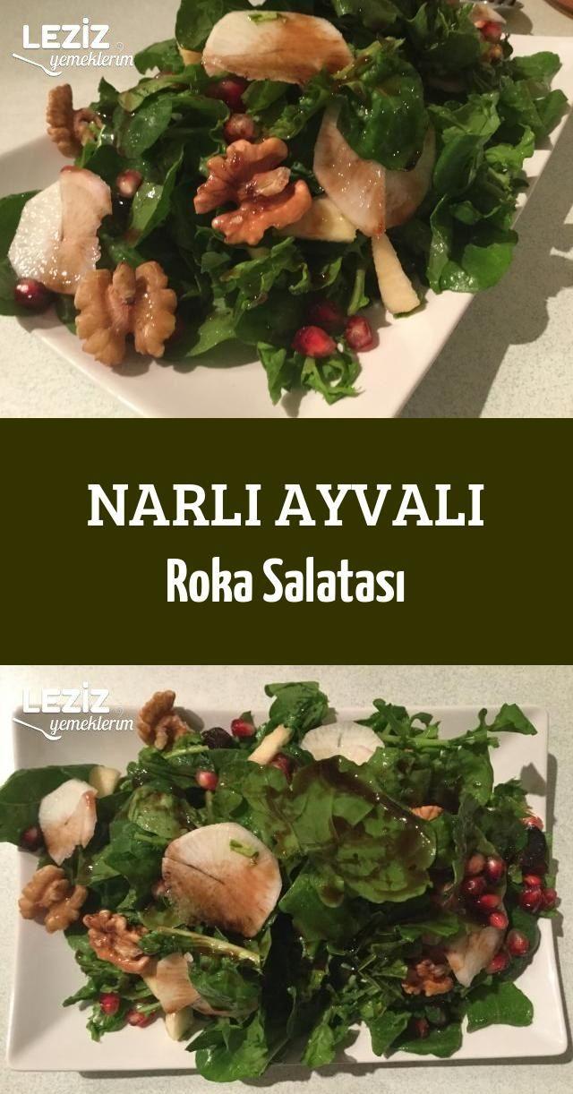 Narlı Ayvalı Roka Salatası