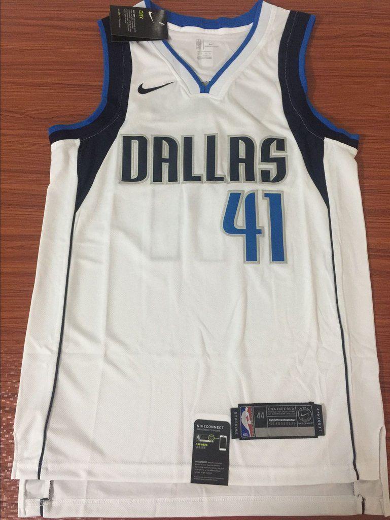quite nice 7b5b5 88bcf Men 41 Dirk Nowitzki Jersey White Dallas Mavericks Swingman ...