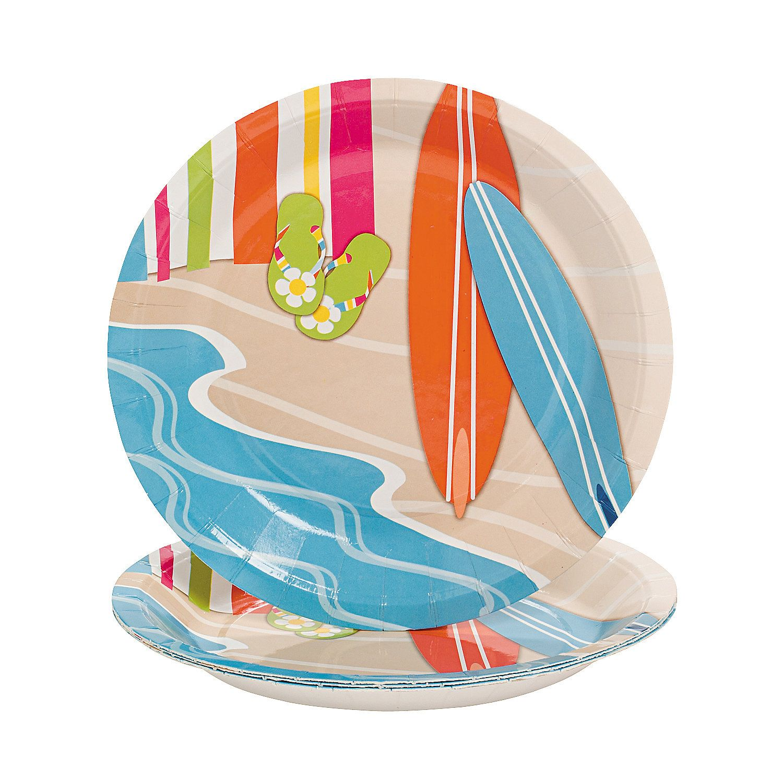 Bright Beach Paper Dessert Plates  sc 1 st  Pinterest & Bright Beach Paper Dessert Plates | Beach dessert Bright and Beach