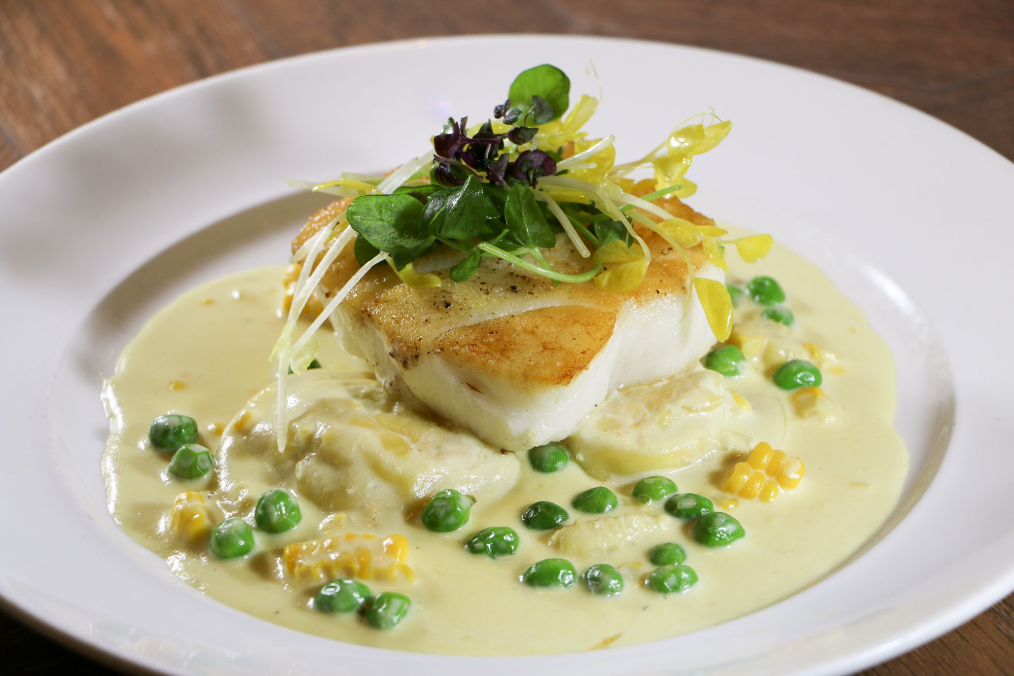 *Pan Seared Chilean Sea Bass crab-butternut squash risotto ...