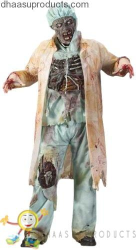 Fun World Costumes Men's  Zombie Doctor, Light Green, One Size - Halloween costumes