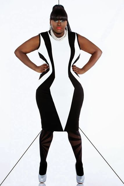 At POP UP PLUS // NY on line by One  One  Three black and white geo dress