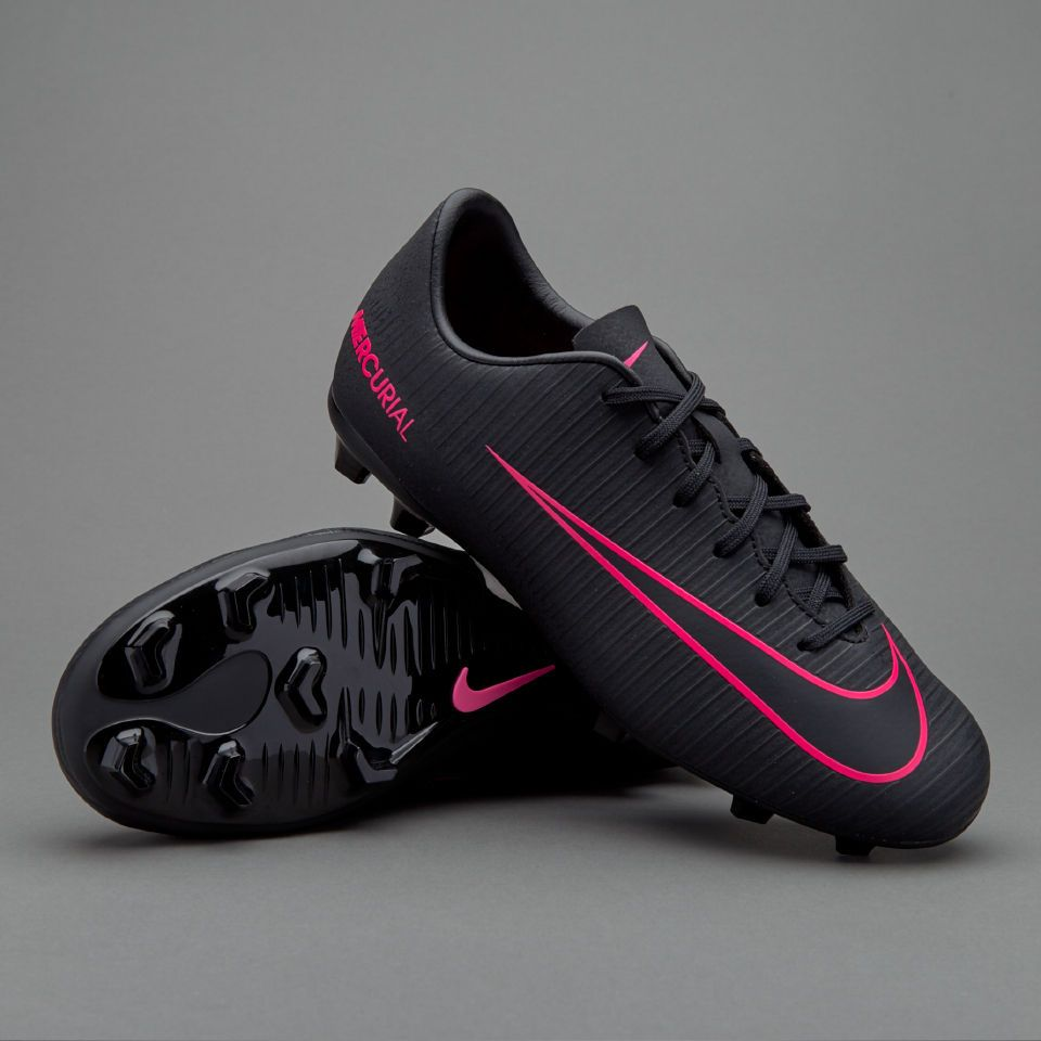 the best attitude 6eb5f 7a612 Nike Kids Mercurial Vapor XI FG Soccer Cleats (Black/Pink ...
