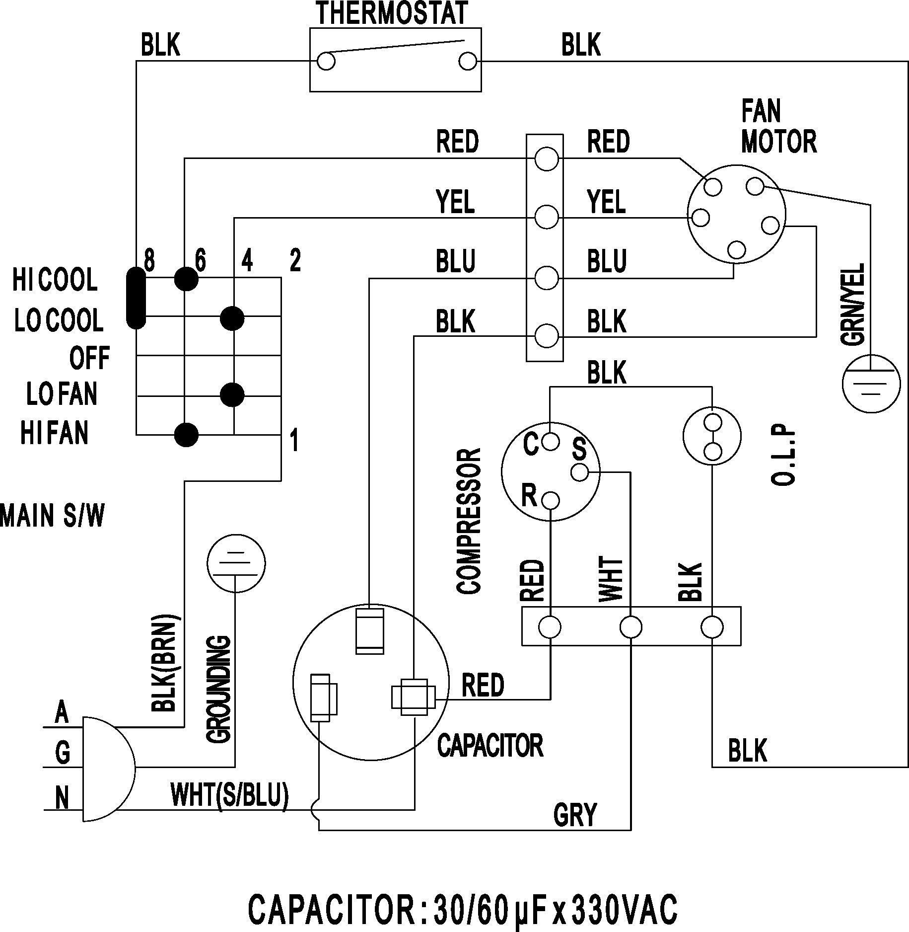 Ac Fan Relay Wiring Diagram | Wiring Diagram Wiring Diagram Hvac on