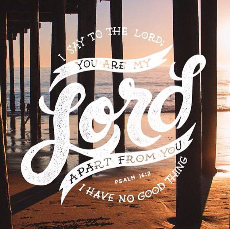I say to the Lord You are my Lord; apart from you I have no good thing. Psalm 16:2 by godsoneliners