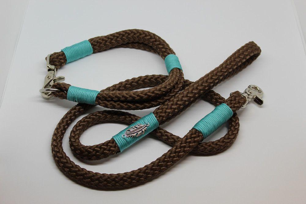 Hundeleine & Halsband aus 12mm Hohlseil Hundeleine