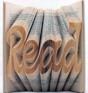 read - book sculpture