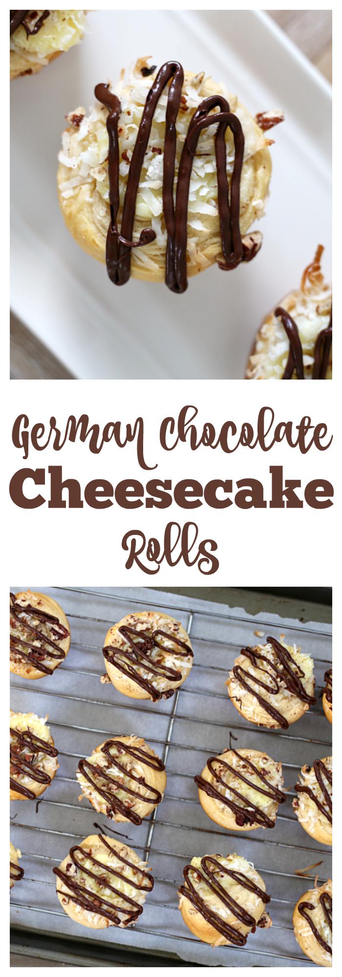 German Chocolate Cheesecake Rolls #germanchocolatecheesecake German Chocolate Cheesecake Rolls #germanchocolatecheesecake