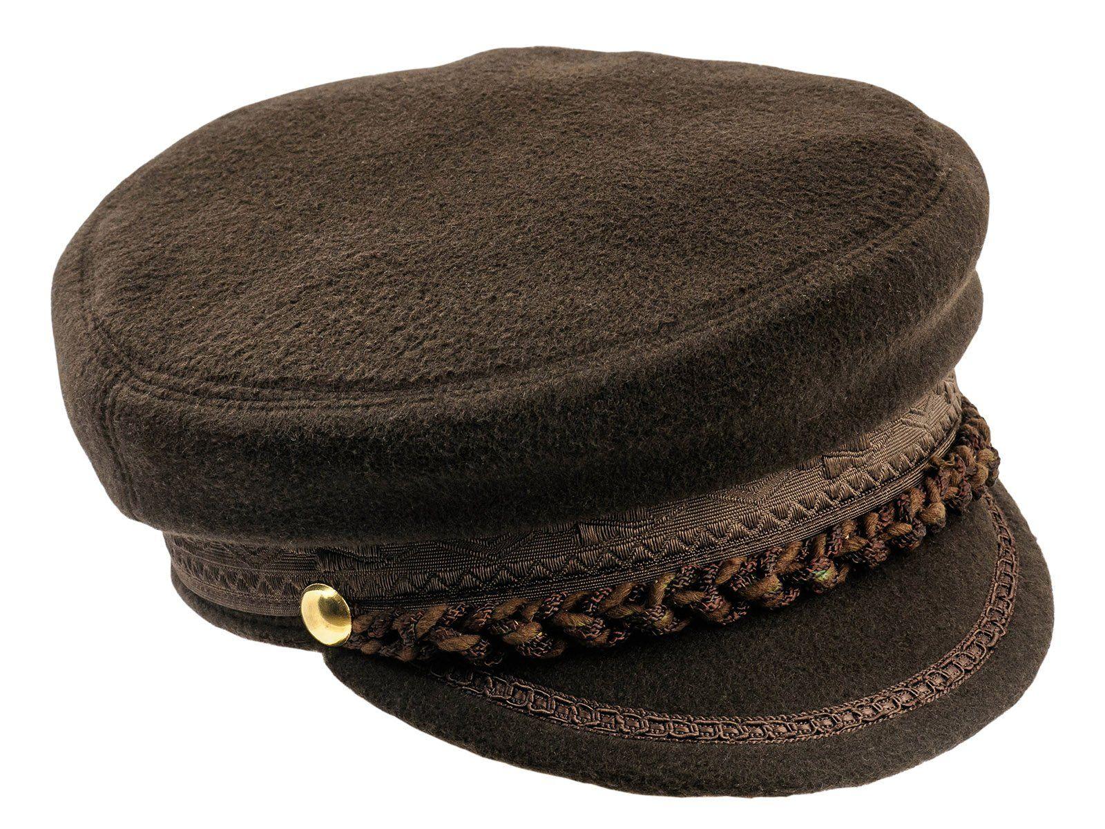 513b614751cc9 Sterkowski Men s Mariner Style Breton Fiddler Cap US 7 5 8 Brown ...