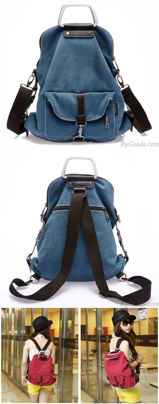 Fashion Multi-function Canvas Shoulder Bag & Backpack for big sale! #school #college #Bag #backpack #student #women #travel #rucksack
